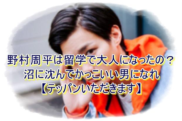 野村周平は留学で大人になったの?沼に沈んでかっこいい男になれ【テッパンいただきます】